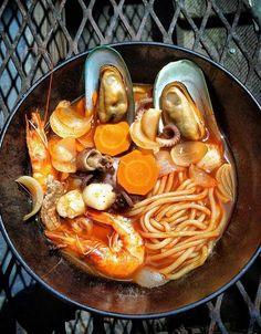 Recipe: Jjampong (Spicy Seafood Noodle Soup) - WSJ