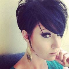 Asymmetrical pixie cut