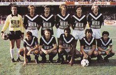Girondins de Bordeaux 1979. Debout de g. à dr. : Delachet, Rohr, Vukotic, Guesdon, Domergue, Ferri. Accroupis : Redon, Camus, Toko, Ferratge, Giresse.