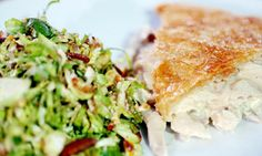 Felicity Cloake's Christmas leftover recipes: turkey and ham pie with brussels sprout salad