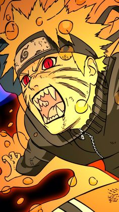 Naruto Uzumaki jinchūriki transformation anime iPhone wallpaper