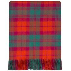 MacNab Ancient tartan rug. Don't you just love the depth of that orangey red?