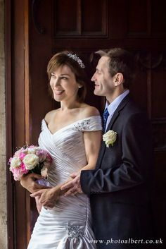 #bride and #groom picture at register office in Ealing by #PhotoAlbert - #wedding_photographer Surrey London Berkshire. #wedding_dress by http://www.thebridalgalleryuk.com/
