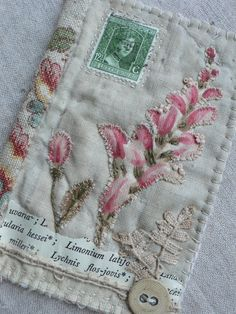 By Gentlework fabric art journal cover