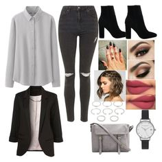 """""""Untitled #189"""" by boxergirl57 ❤ liked on Polyvore featuring Topshop, Uniqlo, Olivia Burton and Forever 21"""