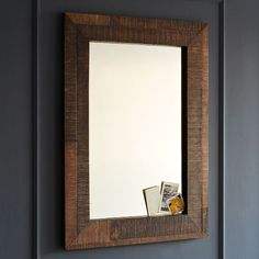 Reclaimed Wood Wall Mirror | west elm