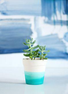 » MY DIY | Dip Dye Succulent Pot