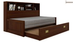 Zibah Sofa Cum Couch With Storage (Light Walnut Finish)-4 @ https://www.woodenstreet.com/sofa-cum-beds