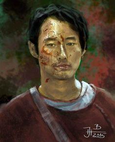 Digital portrait of Glen from Walking dead