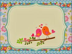 Ideas y material gratis para fiestas y celebraciones Oh My Fiesta!: Kit de Pajaritos Enamorados para Imprimir Gratis.