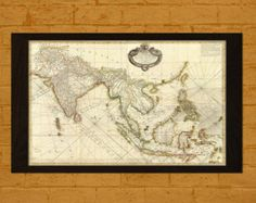 old world map on mercators projection 1851 ancient old map print antique map world antique posters old art repro