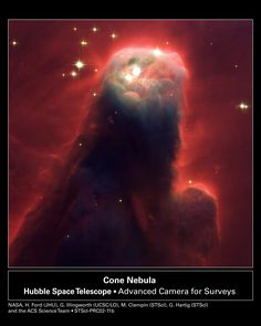 Cone Nebula (NGC2264) in Monoceros, about 2,700 light years from Earth (Hubble Telescope)