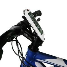 """Ibera Bicycle iPhone 4 / Smartphone Stem Mount Case, 4"""" screen, White ... so I can bring maps and music!"""