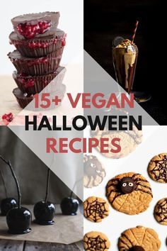 In this post, you'll find 15  amazing recipe ideas for Halloween including sweets, savory snacks, and drinks. Whether you're making them for a party or for your family, it's time to impress! | ElephantasticVegan.com #halloween #vegan #recipes Best Vegan Recipes, Vegan Dessert Recipes, Vegan Sweets, Dairy Free Recipes, Vegan Food, Vegan Vegetarian, Vegetarian Recipes, Vegan Buttercream, Savory Snacks