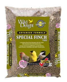 A premium finch food blended with the seeds that America's favorite finches love.