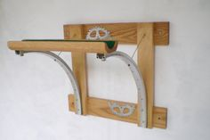 Bicycle Rack Reclaimed Wood and Recycled Bicycle Parts Bicycle Accessories via Etsy