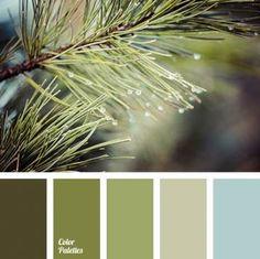Green an color schemes, сolor palette