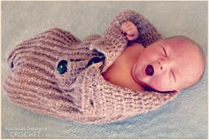 Download Now - CROCHET PATTERN Knit-Look Baby Bundler - Pattern PDF