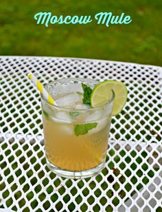 Love the sweet and spicy flavors in this Moscow Mule