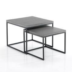 Tavolino basso 56 x 37,5 x 56 cm. nero