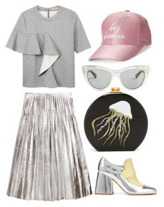 """jelly fish"" by amalia-paraschiv ❤ liked on Polyvore featuring Gucci, Marni, Edie Parker and madden NYC"