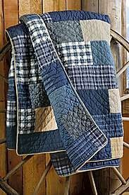 """Made from thrifted flannel shirts and softly worn denim -- heavy but soft. Durable for picnics or the car, or a """"floor cloth"""" for little kids."""