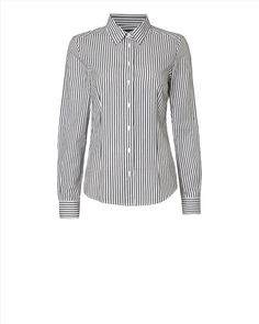 This smart black and white stripe premium cotton blouse by Jaeger is the perfect work wear and a snip at only £29.95 from Miss Peachy