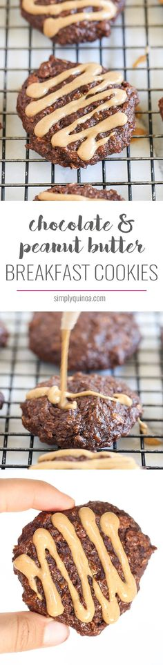 These quinoa breakfast cookies taste like dessert, but are healthy enough for…