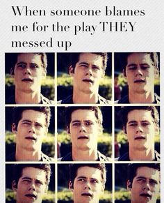 haha volleyball humor/ I love Dylan o'brian/ stiles/ teen wolf