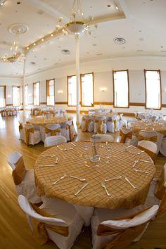 Wedding setup for Provo City Library Ballroom. #wedding #ballroom #provolibrary