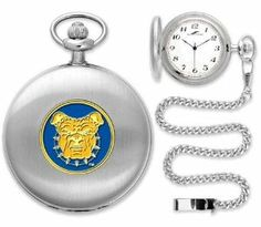 "North Carolina A Aggies Pocket Watch by SunTime. $49.95. Metal Cover. Unisex Adults. Japanese Quartz-Accurate Movement. 12"" Chain. Officially Licensed NC A Aggies Pocket Watch. North Carolina A Aggies Pocket Watch. The classically styled Pocket Watch is thoughtfully crafted and is a superior quality timepiece. The Aggies pocket watch comes with a matching 12"" chain. The watch features a quartz-accurate Japanese movement to display time on our traditionally styl..."