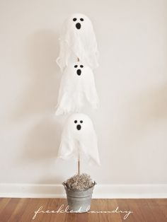 Ghost Topiary, too cute!