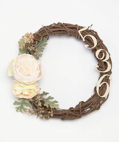 Another great find on #zulily! Personalized Summer Wreath #zulilyfinds