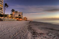 Late afternoon on the beach in Naples.