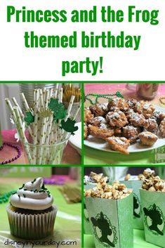 Princess and the Frog birthday party - Disney in your Day Frog Birthday Party, Disney Princess Birthday Party, 1st Birthday Parties, Birthday Ideas, Birthday Crowns, Cinderella Party, Fourth Birthday, Theme Parties, Frog Baby Showers