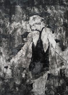 Omegamensch (Acryl auf Holz, 66 x 48 cm)