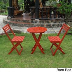 Add a touch of classic elegance to your patio furnishings with this folding bistro set. This gorgeous set features a sturdy acacia hardwood build and your choice of three wood stain finishes.