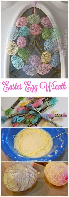 Fun DIY Easter Decorations - Decor Ideas for the Home and Table - Easter Egg Wreath - Cute Easter Wreaths, Cheap and Easy Dollar Store Crafts for Kids. Vintage and Rustic Centerpieces and Mantel Decorations. http:diy-easter-decorations Kids Crafts, Diy And Crafts, Kids Diy, Diy Crafts For Easter, Easter Dyi, Easy Crafts, Easter Garden, Decor Crafts, Rock Crafts