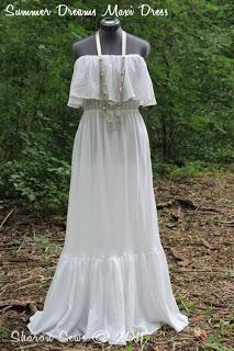 DIY Tutorial: DIY Clothes DIY Refashion / DIY Sew a romantic strapless ruffled maxi dress - Bead&Cord