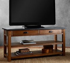 Channing TV Stand #potterybarn