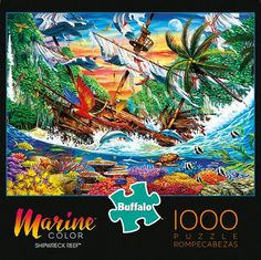Free Jigsaw Puzzles, 1000 Piece Jigsaw Puzzles, Buffalo Brand, Marine Colors, Buffalo Games, Color Puzzle, Puzzle Shop, Puzzle Toys, Shipwreck