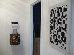 hook box and Alexander Girard canvas Door Sixteen, Alexander Girard, Downstairs Bathroom, Doors, Box, Design, Home Decor, Interiors, Decorating