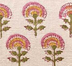 Hand Printed Cotton Block Print 2 Yards New India Fabric Textile Patterns, Textile Design, Print Patterns, Indian Textiles, Indian Fabric, Tie Dye Crafts, Indian Flowers, Indian Block Print, Indian Folk Art