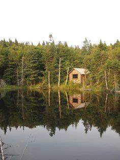 Cabin on the Appalachian Trail near Mt. Greylock, Massachusetts,...