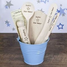 Personalised Star Baker Kids Baking Set Blue | Personalised Baking Gifts | Cooking and Baking |
