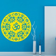 Wall Decals Yoga Indian Mandala Pattern Vinyl Sticker Murals Wall Decor KG49