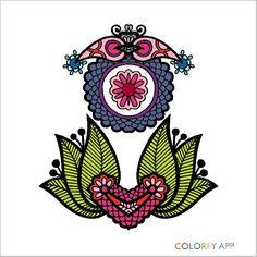 Pintura de um desenho do App Colorfy