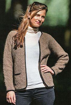 Cardigan med kontrastkanter - Hjelholt designs - Designere