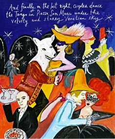 """The Carnevale in Venice"""" by Maira Kalman for Departures."""