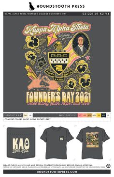 #sorority #greeklife #customdesign #lovethelab // Houndstooth Press Custom Apparel Sorority Pr, Sorority Outfits, Founders Day, Kappa Alpha Theta, Color Shorts, Greek Life, Comfort Colors, Fraternity, Houndstooth